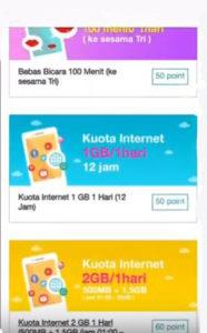 Cara Tukar Poin Bonus Tri Menjadi Kuota Internet - Kode Paket