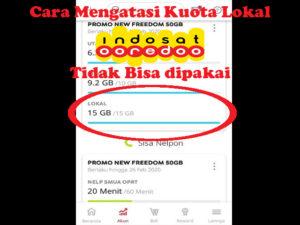 Kuota Lokal Indosat yang Tidak Bisa Dipakai